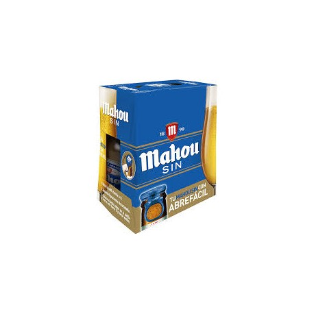 MAHOU SIN 25CL PACK 6 BOTELLAS