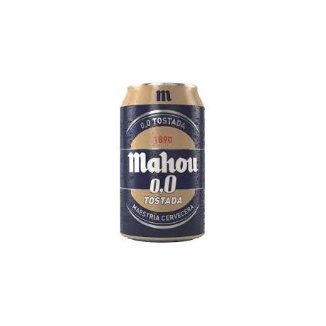 MAHOU 0.0 TOSTADA LATA 33CL
