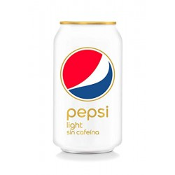 Pepsi Cola light sin cafeina Lata de 33 cl 24 u