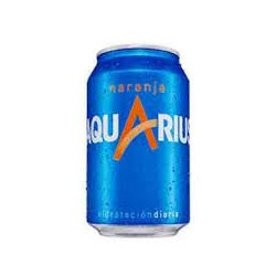 AQUARIUS NARANJA LATA 0.33cl (pack 8)