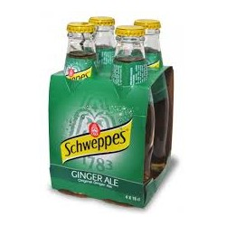 SCHWEPPES GINGER A. 4 PACKS *6 UNI. DE 25 CL