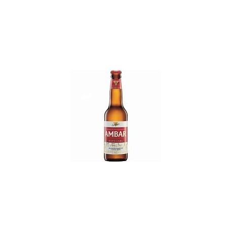 Cerveza Ámbar especial 1/3 caja de cartón 24 botellas