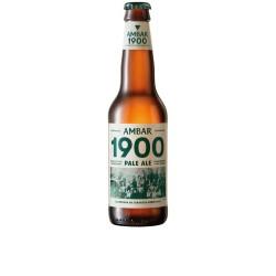 Cerveza Ambar 1900 1/3 caja de 12 botellas