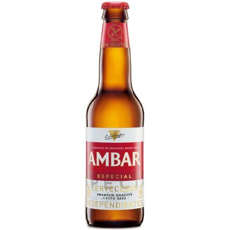 Cerveza Ambar especial sin gluten 1/3 caja de 24 botellas