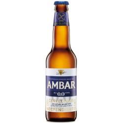 Cerveza Ambar 00 sin gluten 1/3 caja de 24 botellas